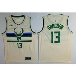 Bucks #13 Malcolm Brogdon Cream City Edition Nike Swingman Jersey