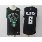 Bucks #6 Eric Bledsow Black Nike Swingman Jersey