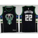 Bucks #22 Khris Middleton Black Nike Swingman Jersey