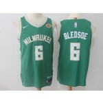 Bucks #6 Eric Bledsoe Green Nike Authentic Jersey