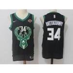 Bucks #34 Giannis Antetokounmpo Black Nike Jersey