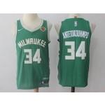Bucks #34 Giannis Antetokounmpo Green Nike Jersey