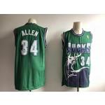 NBA Bucks #34 Ray Allen green Throwback Jersey