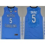 NBA North Carolina Paige #5 sky blue Jersey