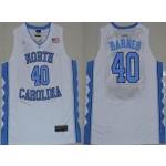 NBA North Carolina Barnes #40 White Jersey