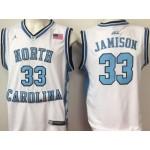 NBA North Carolina Jamison #33 White Jersey