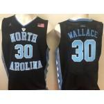 NBA North Carolina Wallace #30 Black Jersey