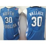 NBA North Carolina Wallace #30 syk blue Jersey