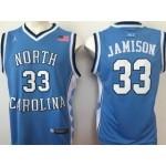 NBA North Carolina Jamison #33 sky blue Jersey