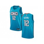 Nike Thunder #12 Steven Adams Turquoise NBA Swingman City Edition 2018 19 Jersey