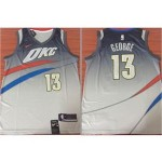 Thunder George #13 Nike City Edition gray Jersey