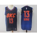 Thunder #13 Paul George Navy Nike Jersey