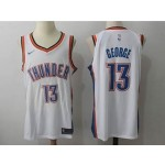Thunder #13 Paul George White Nike Jersey