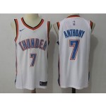 Thunder #7 Carmelo Anthony White Nike Jersey