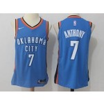 Thunder #7 Carmelo Anthony Blue Nike Jersey