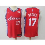 76ers #17 J.J. Redick Red Nike Authentic Jersey