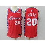 76ers #20 Markelle Fultz Red Nike Authentic Jersey
