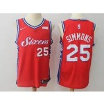 76ers #25 Ben Simmons Red Nike Jersey