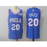 76ers #20 Markelle Fultz Blue Nike Jersey