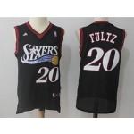76ers #20 Markelle Fultz Black Throwback Jersey