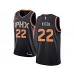 Phoenix Suns #22 Deandre Ayton Black NBA Jerseys
