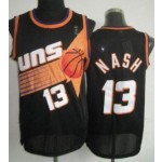 NBA Throwback Phoenix Suns Nash #13 Black Jersey