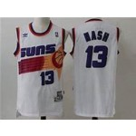 NBA Throwback Phoenix Suns Nash #13 white Jersey
