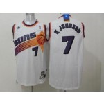 NBA Throwback Phoenix Suns K Johnson #7 white Jersey