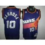 NBA Throwback Phoenix Suns BLeandro Barbosa #10 Purple jersey