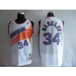 NBA Throwback Phoenlx Suns Charles Barkley #34 white Jersey