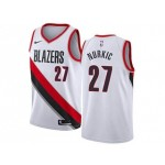Nike Blazers #27 Jusuf Nurkic White NBA Swingman Association Edition Jersey