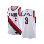 Nike Blazers #3 C.J. McCollum White NBA Swingman Association Edition Jersey