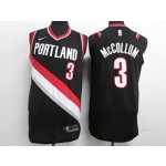 Blazers #3 C.J. McCollum Black Nike Authentic Jersey
