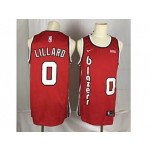 Nike Blazers Lillard #0 Red Throwback new Jersey