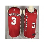 Nike Blazers #3 C.J. McCollum Red Throwback new Jersey