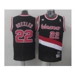 NBA Throwback Portland Trail Blazers #22 derxler Black Jersey