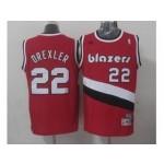 NBA Throwback Portland Trail Blazers #22 derxler Red Jersey