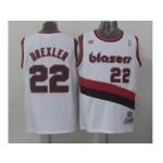 NBA Throwback Portland Trail Blazers #22 derxler white Jersey
