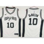 Spurs #10 DeMar DeRozan white Nike Swingman Jersey