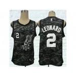 Spurs #2 Kawhi Leonard Black City Edition Nike Swingman Jersey