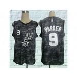 Spurs #9 Tony Parker Black City Edition Nike Swingman Jersey