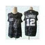 Spurs #12 LaMarcus Aldridge Black City Edition Nike Swingman Jersey