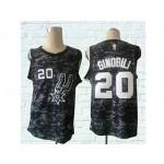 Spurs #20 Manu Ginobili Black City Edition Nike Swingman Jersey