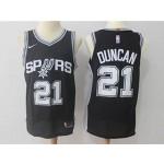 Spurs #21 Tim Duncan Black Nike Jersey