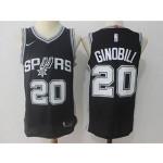 Spurs #20 Manu Ginobili Black Nike Jersey