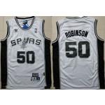 Spurs #50 David Robinson White Hardwood Classics Jersey