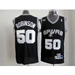 NBA San Antonio Spurs Throwback David Robinson #50 black jersey