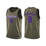 Nike Kings #8 Bogdan Bogdanovic Green NBA Swingman Salute to Service Jersey