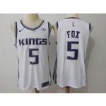 Kings #5 De'Aaron Fox White Nike Authentic Jersey