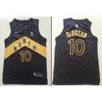 NBA OVO Raptors #10 DeMar DeRozan Black City Edition Nike Jersey